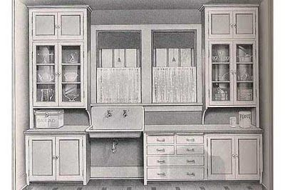 "1920 Craftsman Kitchens  ""...researching kitchens from the 1920's, particularly the Craftsman kitchen. ...1927, it was a Sears Craftsman Bungalow plan."""