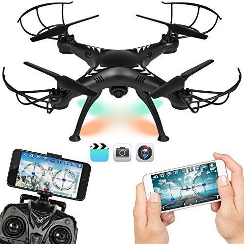 NEW Camera Drone HD Real Time Wifi Hd Live Recording Headless Mode w/Power Bank  #Bc