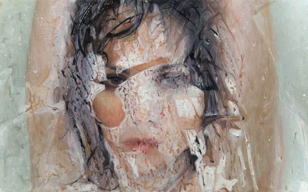 Comply  - oil painting on panel by Alyssa Monks, 2013