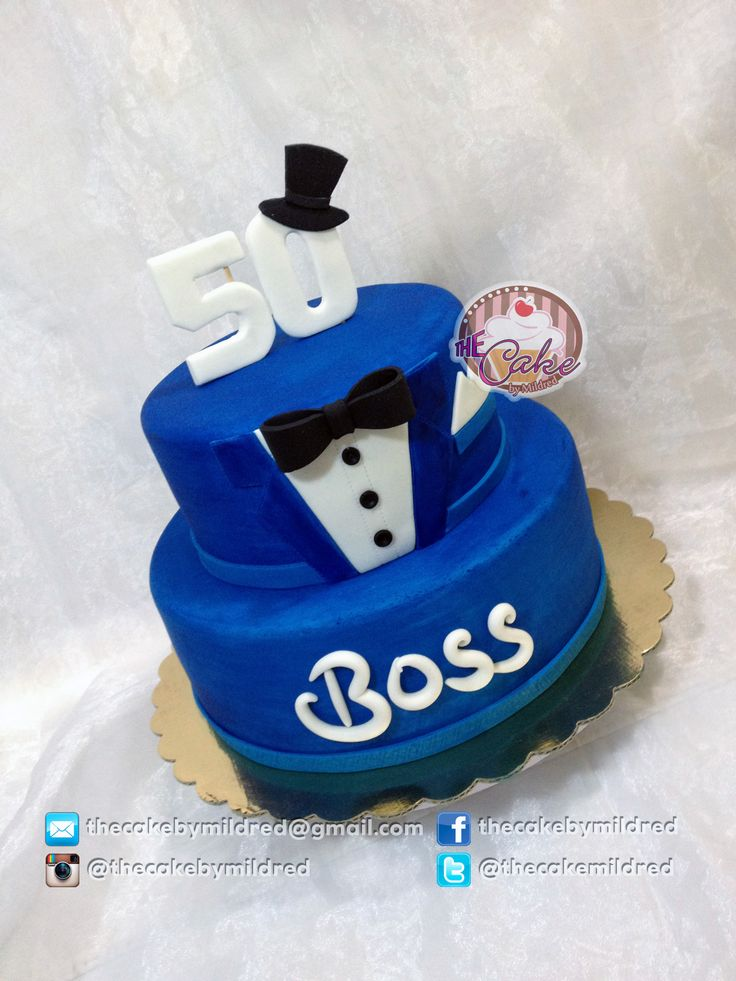 """Tuxedo for a Boss! - My client saw a """"bake a boo cakes"""" and asked me to make it…"""