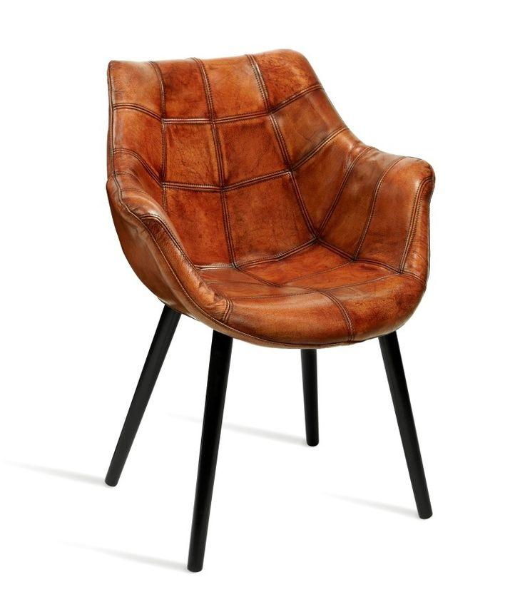 Husky Arm Chair - Tan Leather