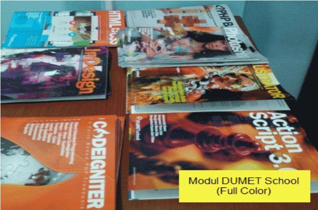 Modul DUMET School Tempat Kursus Website, SEO, Desain Grafis Favorit 2015 di Jakarta