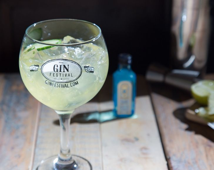 English Garden  Light and incredibly refreshing an English Garden is often spotted on the Gin Festival cocktail menu. Its delicate flavours mean it works best with a simple gin that cant overpower it. Often considered a classic gin Bombay Sapphire is a great example of a particularly aromatic London Dry Gin that adds to the English Garden without being an obstruction.  Muddle 1-inch cucumber in the base of a shaker.  Then shake together over ice:  50ml apple juice 37.5ml Bombay Sapphire…