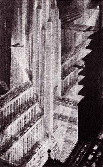 Hugh Ferris drawing