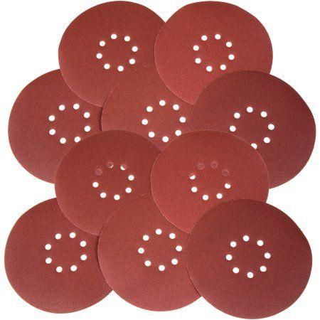 WEN Drywall Sander 240-Grit Hook and Loop 9 inch Sandpaper, 10-Pack, Brown
