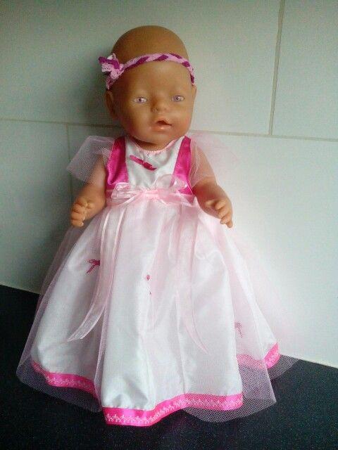 Prinsessenjurk voor babyborn of andere poppen van ca. 43cm