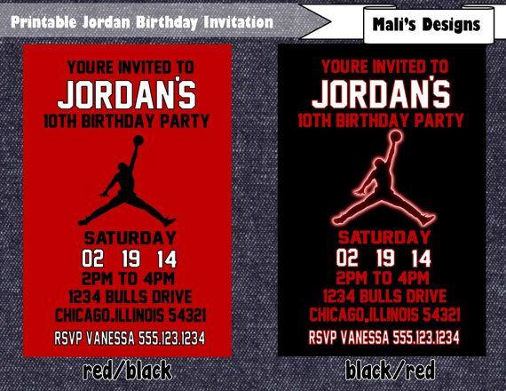76 best Michael Jordan Theme Party images – Michael Jordan Birthday Invitations