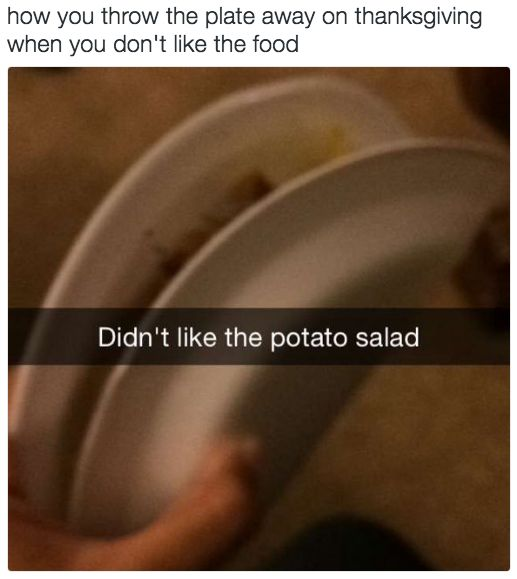 And managing to be discreet if you truly can't stand it. | 17 Skills All Picky Eaters Have Pretty Much Mastered