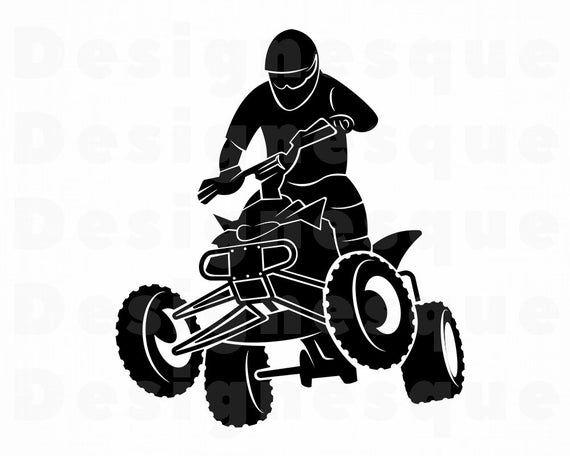 Atv 4 Svg Atv Svg 4 Wheeler Svg Atv Motocross Svg Atv Etsy In 2021 4 Wheeler Bike Drawing Atv Motocross