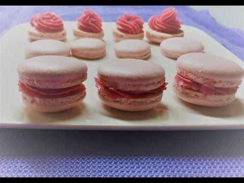 ♥ Macarons ♥ Französiche Macarons / Himbeercreme / Originalrezept - YouTube