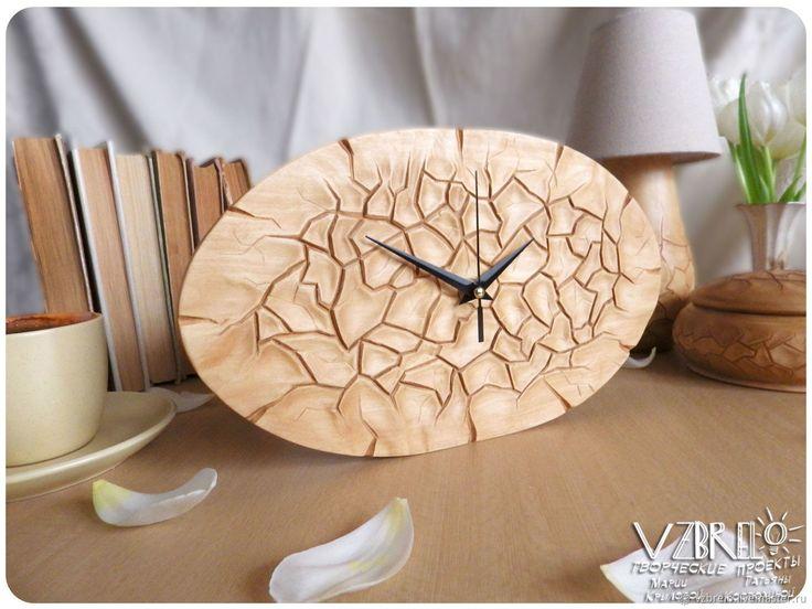 """Часы настенные """"Кракле"""" – купить в интернет-магазине на Ярмарке Мастеров с доставкой - FB6EFRU"""