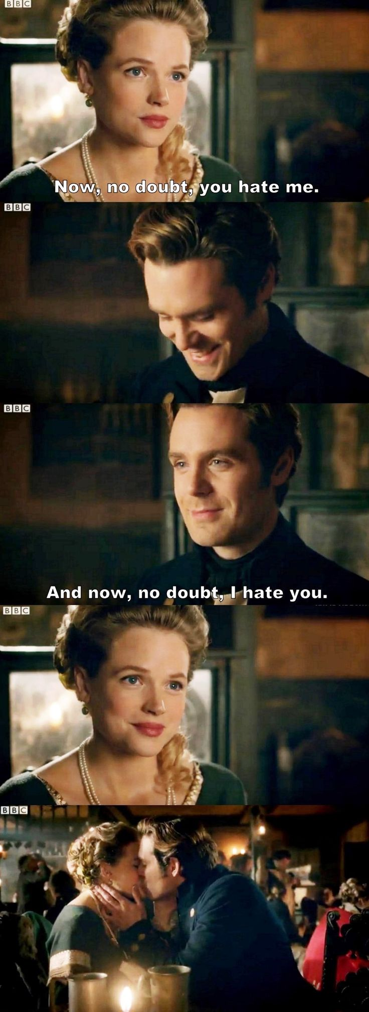 """Now, no doubt, I hate you"" - Dwight and Caroline #Poldark ((Yay!!!!))"