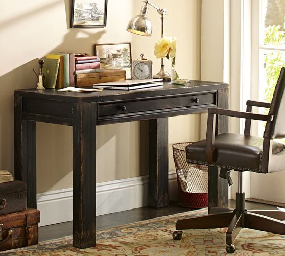 Dawson small desk pottery barn office ideas pinterest crafts colors and i want - Pottery barn office desk ...