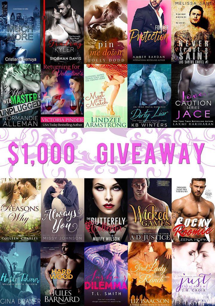 EVERYONE WINS – 20 #Free #Romance #Books. 1 Person Wins $1000!