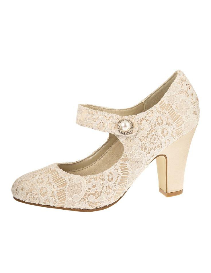 Bruidsschoen Betty Ivory Vintage Satin is een prachtige Mary Jane stijl schoen uit de Rainbow Club collectie. Deze met kant …