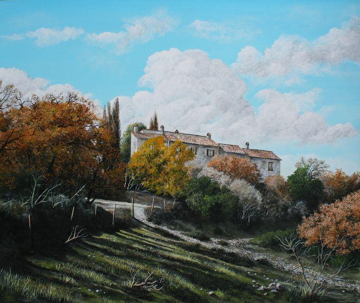 Nando Conti - La fattoria di montagna - Macerino - Umbria Acrilico 2018