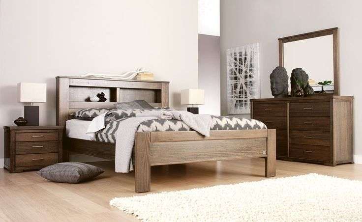 Forty winks harcourt minimal modern light wood grain for Bedroom suites with mattress