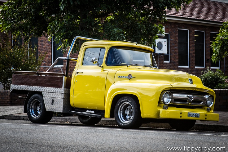 Vintage Yellow Ford Truck.