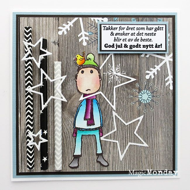 anma.no - Blog - 12 Days of Christmas - Card by guestdesigner Tone. Stamps from MagicMonday.no