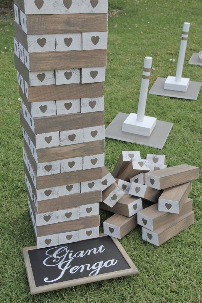 An extra large giant Jenga lawn game, real Jenga- no gaps. Starts at 1m and builds up to 1.85+m. Comes in 2x crates- use a crate to stack jenga on if the lawn is uneven.