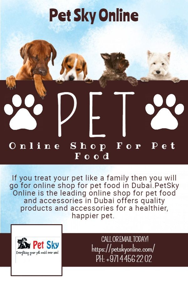 Pet Sky Online The Biggest Online Shop For Pet Food In Dubai Food Animals Buy Pets Pets