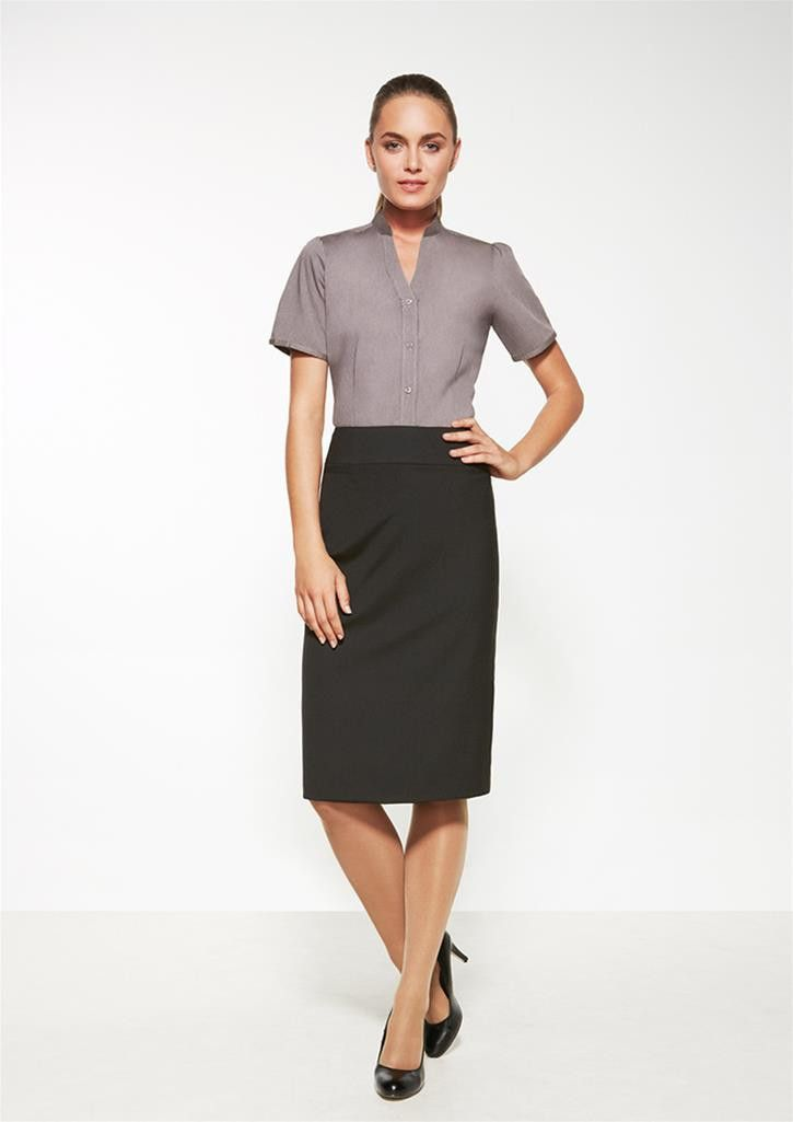 Biz Corporates Ladies Relaxed Fit Lined Skirt - Uniform Wholesalers