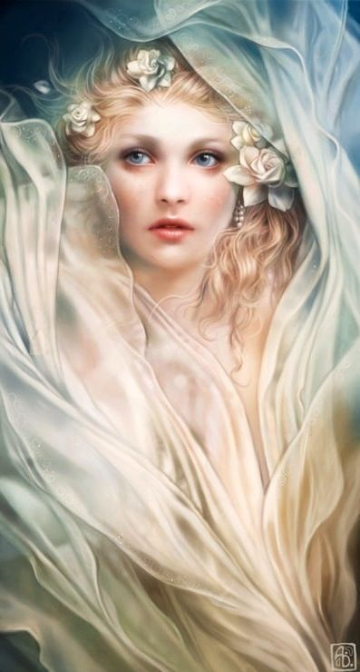 Persephone...the daughter of Zeus and Demeter. She was the goddess of springtime and, after her abduction by Hades she became his wife and Queen of the underworld for six months of each year. The mint and pomegranate is sacred to her.