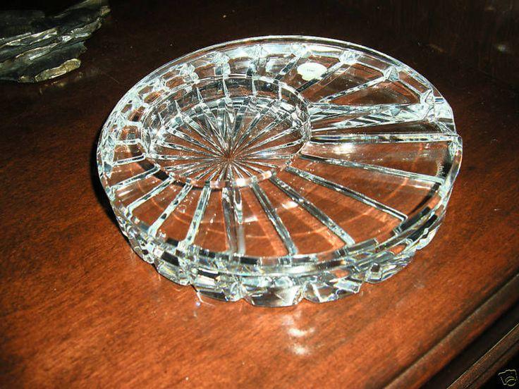 waterford round solitaire macanudo cigar ashtray new - Ashtrays