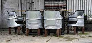 Resultado de imagen para steel barrel furniture