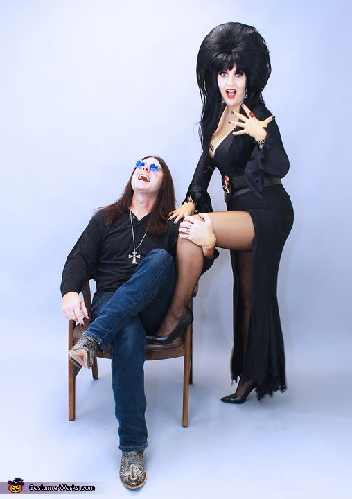 Mistress of the Dark and the Prince of Darkness - Halloween Costume Contest via @costume_works