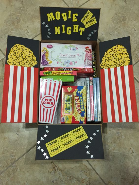 Movie Night Hamper | 20+ Super Easy DIY Christmas Gifts for Him