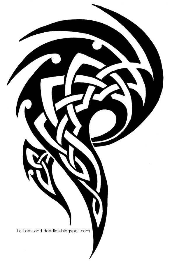 Tattoos and doodles: Tribal celtic