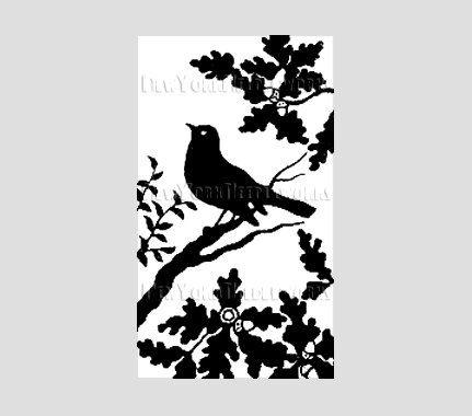 Bird Silhouette, Vintage Silhouette Pattern, Cross Stitch Pattern, Needlepoint Pattern, Silhouette from NewYorkNeedleworks on Etsy. $8.50, via Etsy.