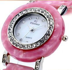 Ai From France, Korean Ms Female Table Imitation Jade Table Diamond Watch Fashion Watch Quartz Watch