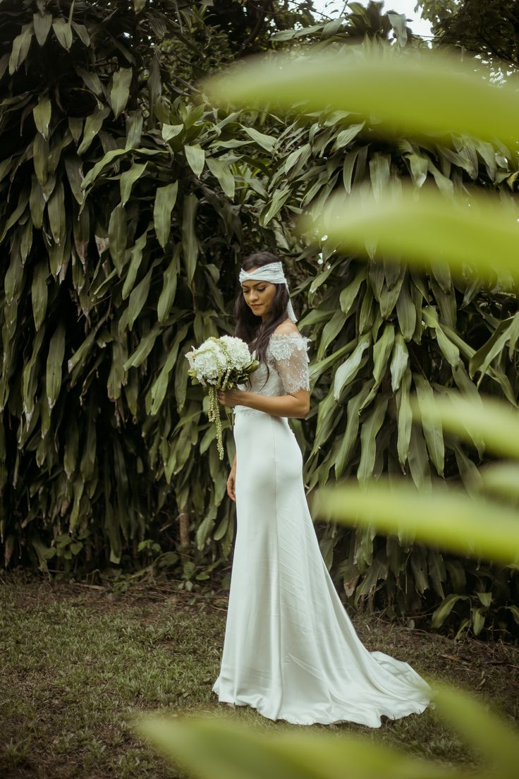 Local Collaboration Over Load of Awesomeness! Cheee --- Dress: Masako Formals - Floral Arrangements: Plant Hawaii  - Photographer: Demi-Love Photography  - Model: Kandrie Martinez-Herring . . . Schedule an appointment today, Aloha!