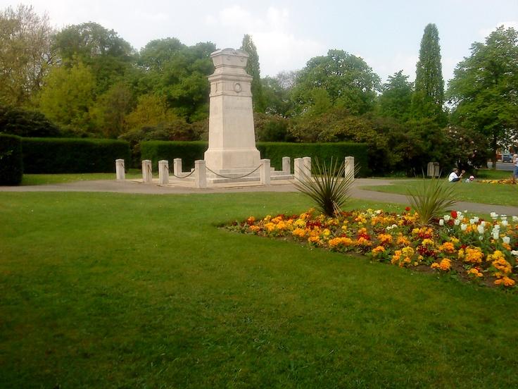 The War Memorial near Gentleman's Row.