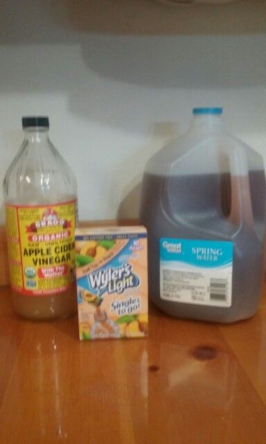 Lose weight & stops with heartburn. Add 1 cup of Braggs Apple Cider vinegar (wit…