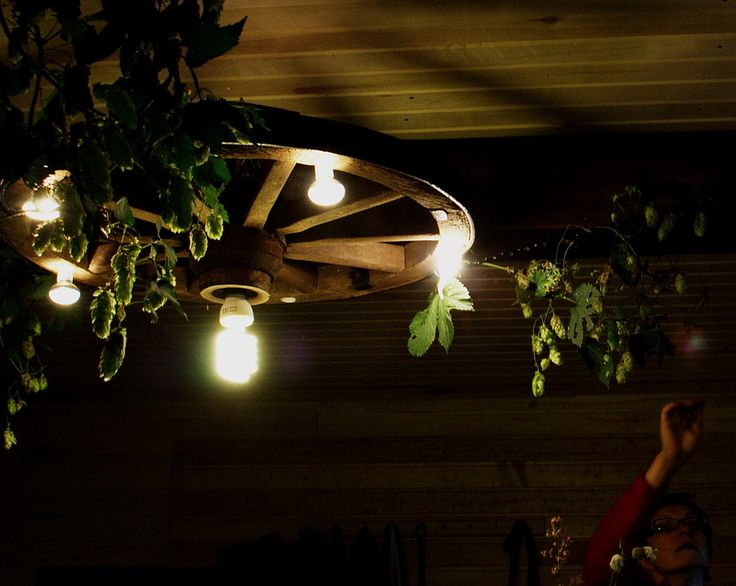 Wagenrad Lampe - step by step Photo tutorial - Bildanleitung