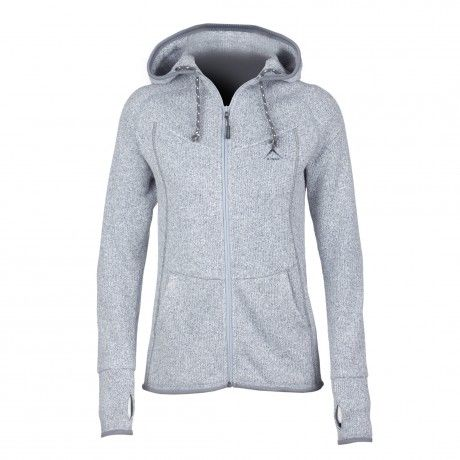 The K-Way Venus Hoody is a medium weight fleece for every day wear or as a mid-layer garment. The knitted fabric provides great insulation without excess weight and it also features an integrated hood and hand warmer pockets for additional heat retention.