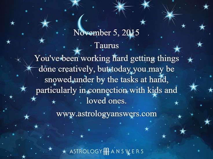 The Astrology Answers Daily Horoscope for Thursday, November 5, 2015 #astrology
