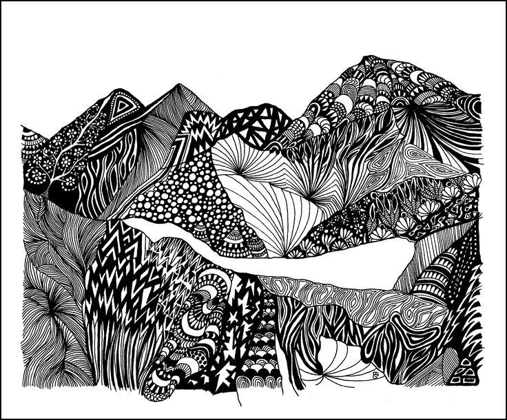 Hidden Peak Tuschezeichnung Copyright by mgbergbilder / Gabriele Maier