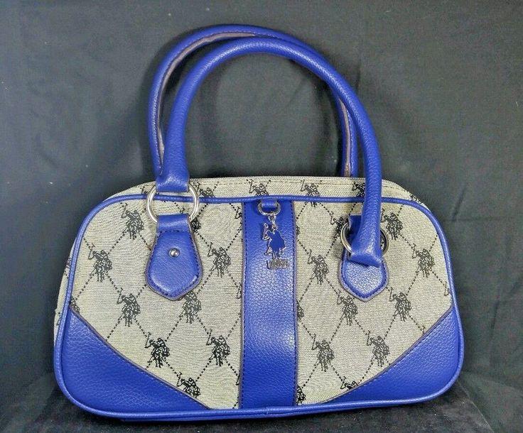U.S.Polo Assn. Handbag Violet Trim  POLO Players  purse #Polo #ShoulderBag