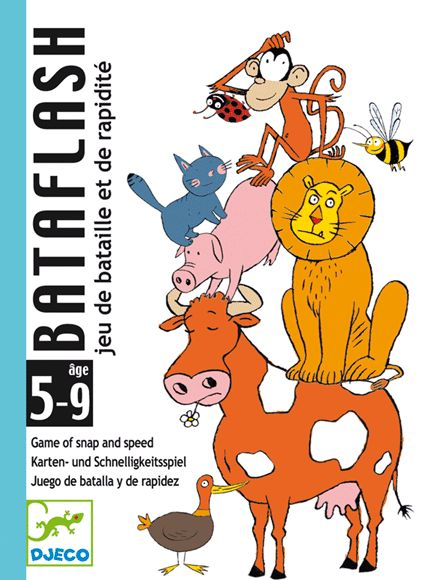 Bataflash kártyajáték- rengeteg állat egy rakáson (Djeco) | Pandatanoda.hu Játék webáruház