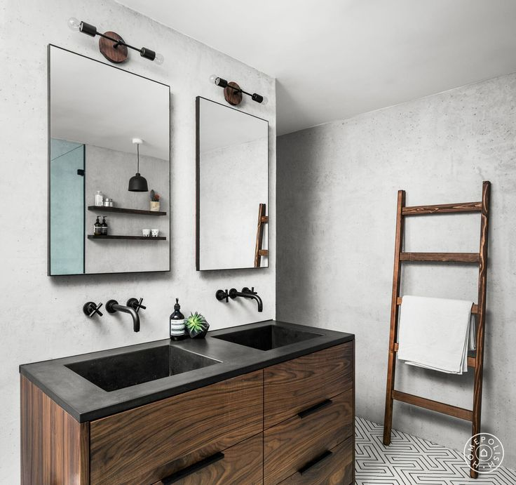 pictures to hang in master bathroom%0A A Cool  Minimal Brooklyn Master Bath