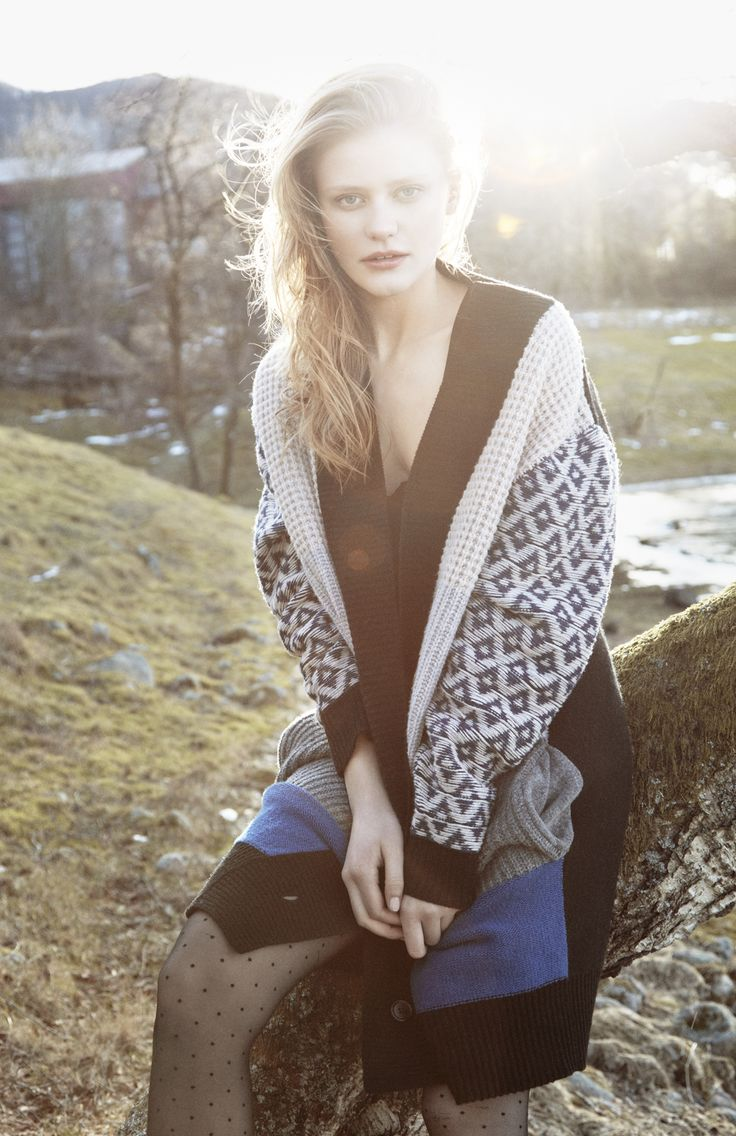 Daiana cardigan, 100% wool. Inspired by old norwegian woven bed sheds.  www.iisofnorway.com