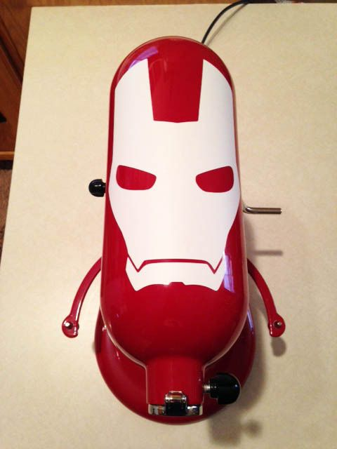 Show your true allegiance to the Avengers by decking out your plain mixer with Iron Man! The Iron Man mask decal measures approx. 7.5H x 5W, and armor design measures approx. 6.5H x 4.5W. This set also includes a bonus 3 power source decal from Iron Man's chest. (Not Shown in Pictures) Please see