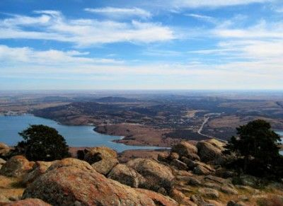 View from Mount Scott in the Wichita Mountains Wildlife Refuge...SW Oklahoma