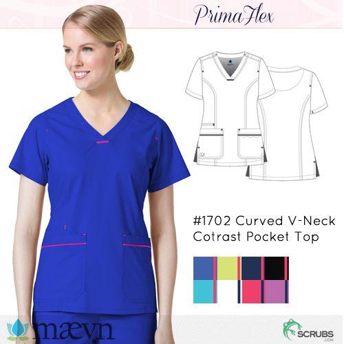 Maevn Uniforms 1702 - PrimaFlex Women's Contrast Pocket Top