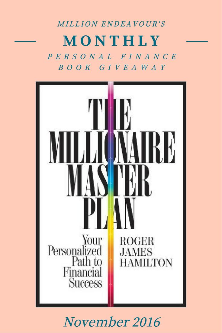 Enter for a chance to win a brand new copy of The Millionaire Master Plan by Roger James Hamilton. Click through to enter.