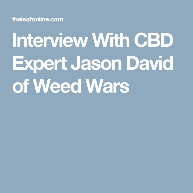 Interview With CBD Expert Jason David of Weed Wars